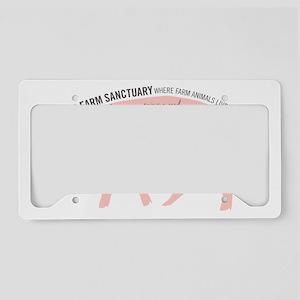 jonathan apron pink gray License Plate Holder