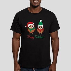 HappyOwlidays Men's Fitted T-Shirt (dark)