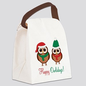 HappyOwlidays Canvas Lunch Bag