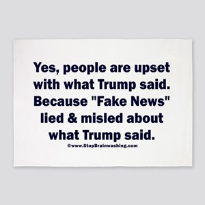 Fake news polls 5'x7'Area Rug