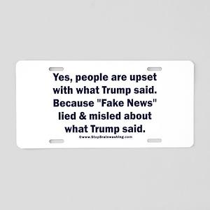 Fake news polls Aluminum License Plate