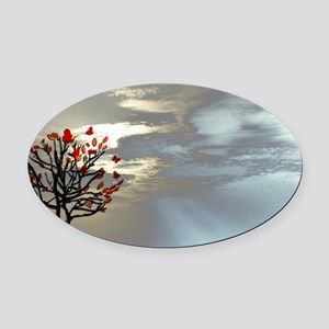 coin purse_556_Serenity at Dusk Oval Car Magnet