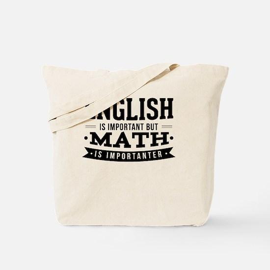 Cute Funny math joke Tote Bag