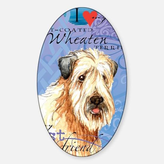 wheaten-iPad Sticker (Oval)