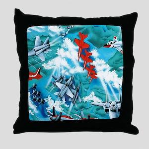 jets copy Throw Pillow