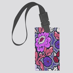Lush Floral Silhouettes copy215 Large Luggage Tag
