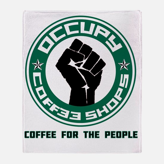 occupy coffee shops Throw Blanket