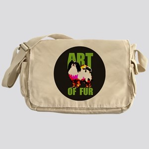 Round Logo Messenger Bag