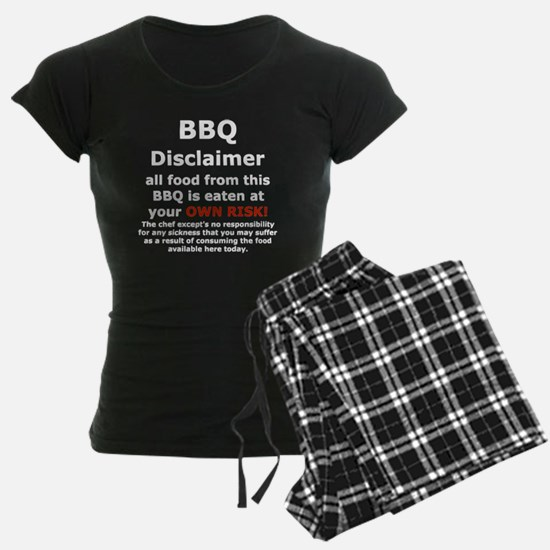 BBQ apron disclaimer white c Pajamas