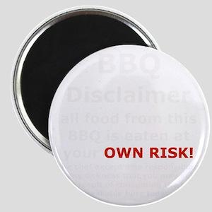 BBQ apron disclaimer white cp Magnet