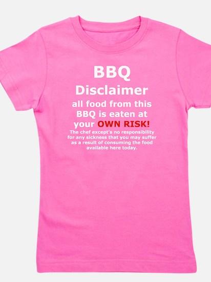 BBQ apron disclaimer white cp Girl's Tee