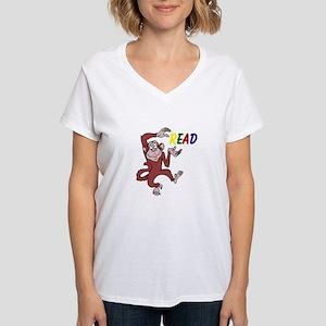 Librarian - Read Women's V-Neck T-Shirt