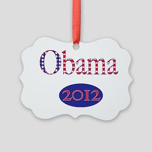 Obama2012Sq Picture Ornament