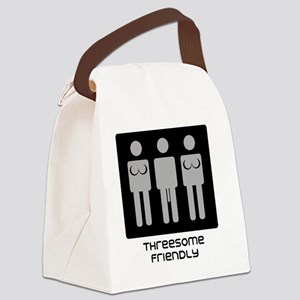 threesome transparent pic Canvas Lunch Bag