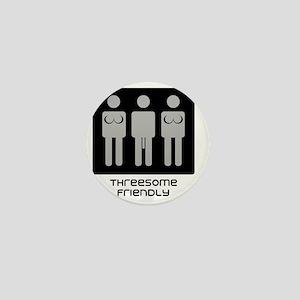 threesome transparent pic Mini Button