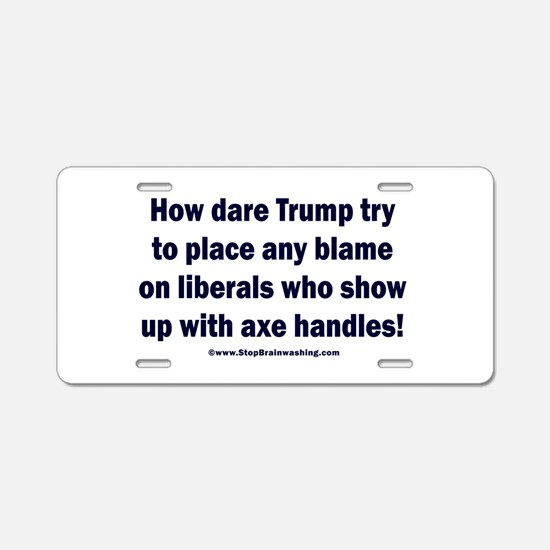 Libs with axe handles Aluminum License Plate