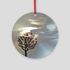 wallclock_Serenity at Dusk Round Ornament