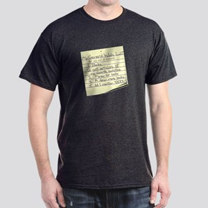 Booklover's Wish List Dark T-Shirt