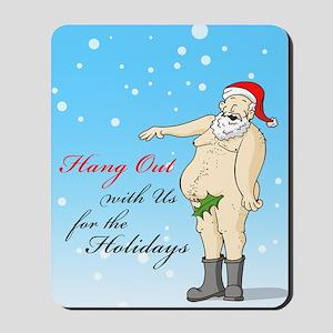 Santa- Hang Out Card Mousepad