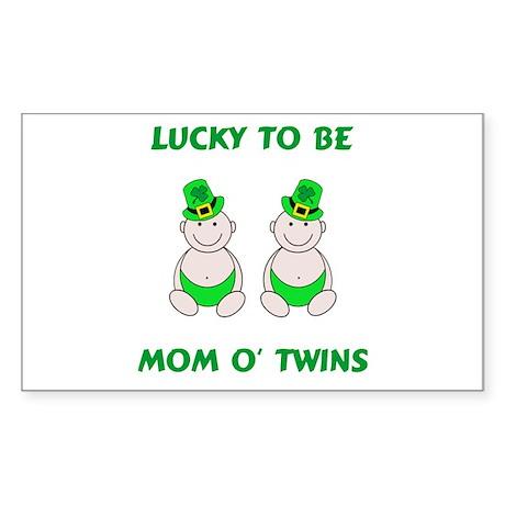 Mom O' Twins Rectangle Sticker