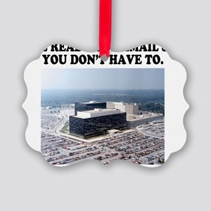 We read your email Picture Ornament