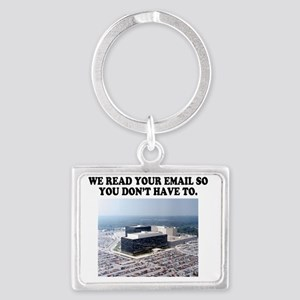 We read your email Landscape Keychain