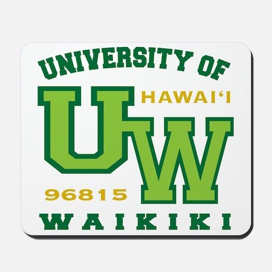 UWaikiki-10x10shirt Mousepad