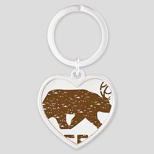 Bear + Deer = Beer Heart Keychain