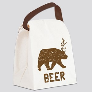 Bear + Deer = Beer Canvas Lunch Bag
