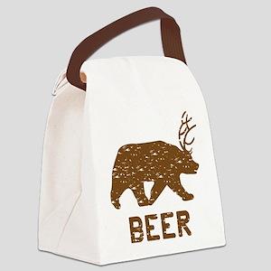 Bear + Deer = Beer Canvas Lunch Bag
