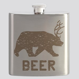 Bear + Deer = Beer Flask