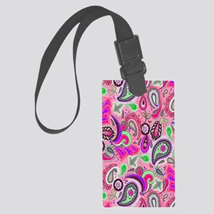 Modern Groove Yellow copy Large Luggage Tag