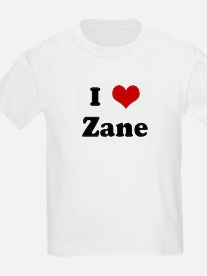 I Love Zane Kids T-Shirt