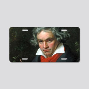 Beethoven Aluminum License Plate