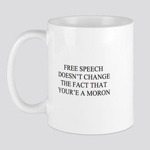 Free Speech for Morons Mug