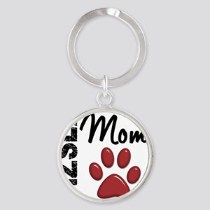 D Vizsla Mom 2 Round Keychain