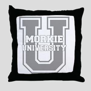 morkieu_black Throw Pillow
