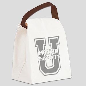morkieu_black Canvas Lunch Bag