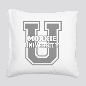 morkieu_black Square Canvas Pillow