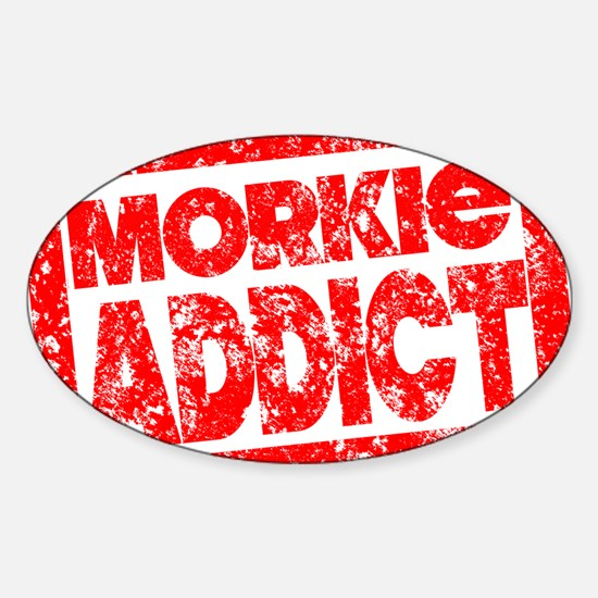 morkieaddict Sticker (Oval)