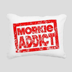 morkieaddict Rectangular Canvas Pillow