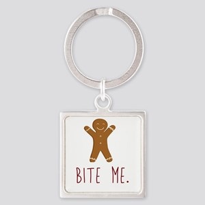 Grouchy Gingerbread Keychains