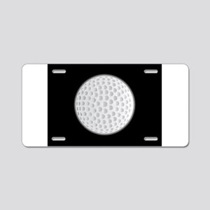 Golf Ball Moon Aluminum License Plate