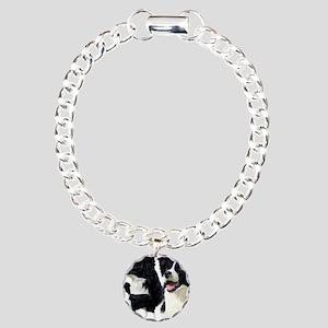 Bor Collie blanket Charm Bracelet, One Charm