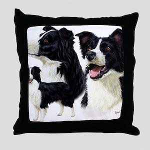 Bor Collie blanket Throw Pillow