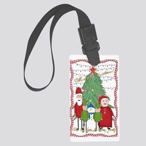 Claus Family Portrait Large Luggage Tag