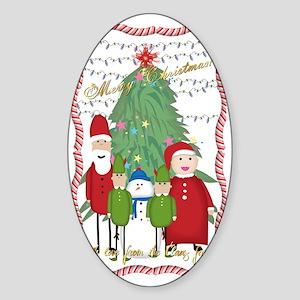 Claus Family Portrait Sticker (Oval)