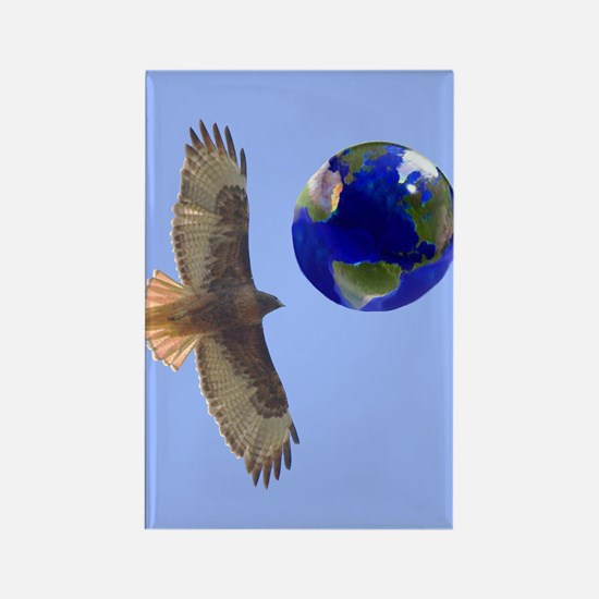 Redtail Hawks World Poster Rectangle Magnet