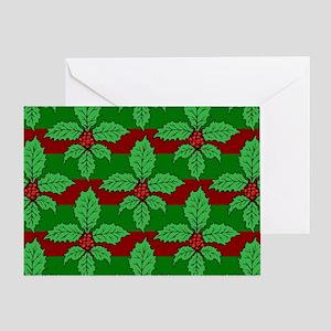 FleurHollyLfPstMP Greeting Card