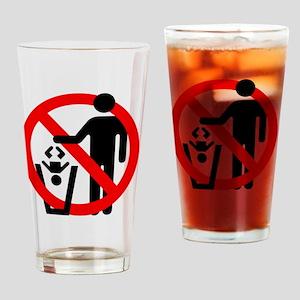 No-Trashing-Babies Drinking Glass